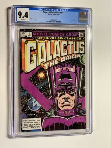 Super-villain classics 1 cgc 9.4 wp marvel 1983 galactus origin