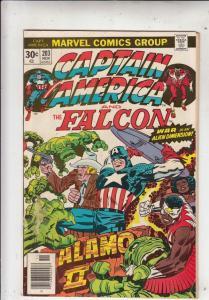 Captain America #203 (Nov-76) VG/FN+ Mid-Grade Captain America