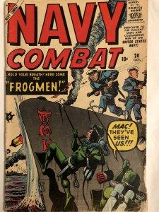 Navy Combat #20,VG, 1958....frogmen!!