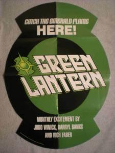GREEN LANTERN Promo poster, 21x 30, 2000, Unused, more Promos in store