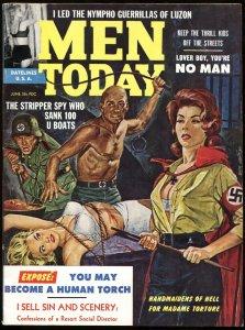 Men Today June 1962-Female NAZI torture cover-Pulp Magazine