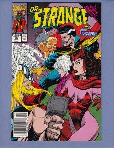 Doctor Strange Sorcerer Supreme #35 FN Thor Drax Newsstand Marvel 1991
