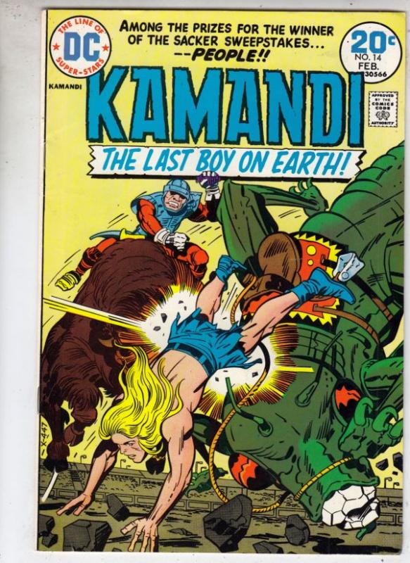 Kamandi the Last Boy on Earth #14 (Feb-74) VF/NM High-Grade Kamandi