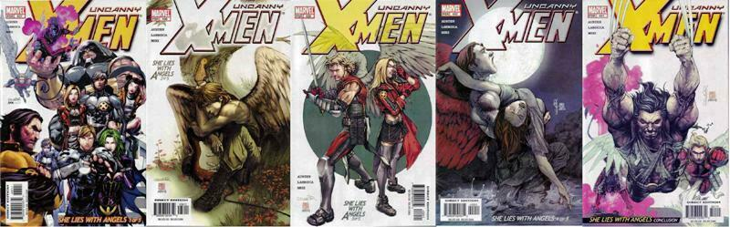 X MEN 437-441  She Lies With Angels