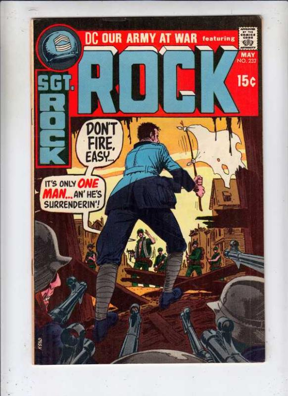 Our Army at War #232 (May-71) VF+ High-Grade Easy Company, Sgt. Rock