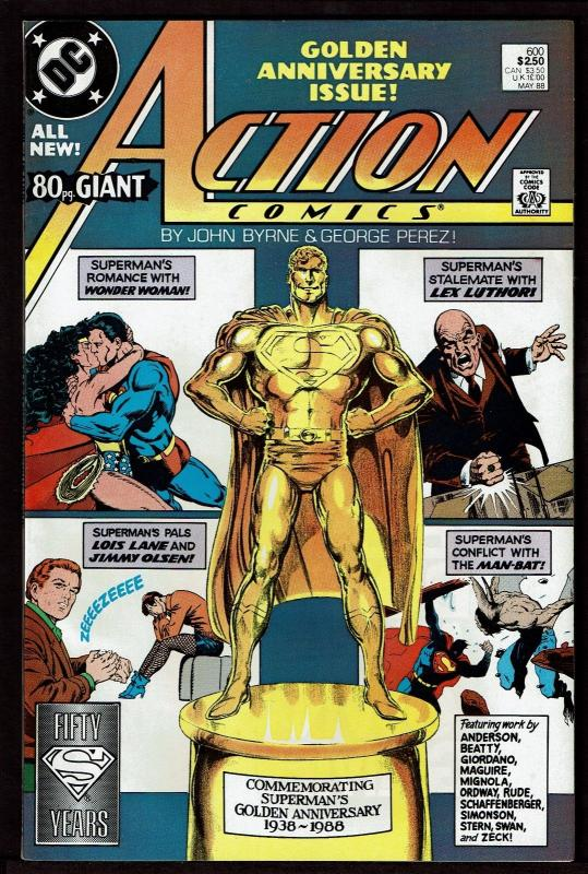 Action Comics #600 (May 1988, DC) 80-Page Giant NM-
