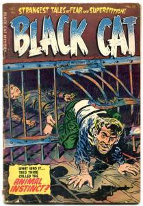 Black Cat Mystery #52 1954-Golden Age horror- Animal Instinct G/VG