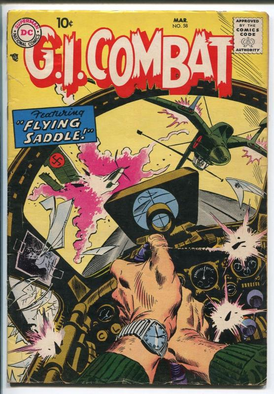 G.I. COMBAT #58 1958-DC- AIR BATTLE-EASY CO-vg