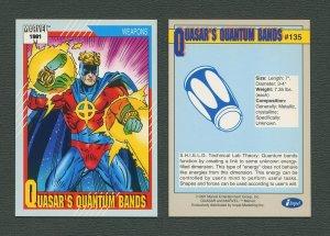1991 Marvel Comics II  Card  #135 ( Quasar's Quantum Bands )  MINT