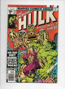 HULK #213, VF/NM, Incredible, Bruce Banner, Quintronic Man, 1968 1977, Marvel