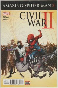 AMAZING SPIDER-MAN #3 - CIVIL WAR 2, MARVEL COMICS, BAGGED & BOARDED