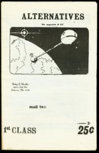 Alternatives Fanzine #3-1972-SCI FI PULP ZINE REVIEW VG