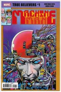 True Believers Iron Man 2020 Arno Stark #1 Rep Machine Man #2 (Marvel, 2020) NM