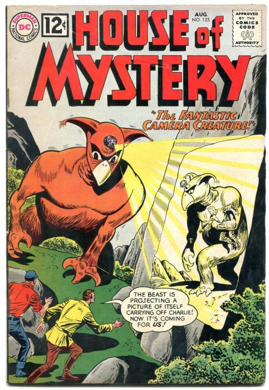 HOUSE OF MYSTERY #125 1962-CAMERA CREATURE--DC COMICS FN
