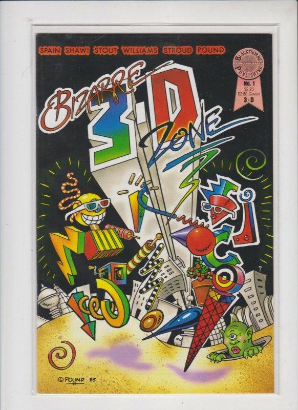 BIZARR 3-D ZONE #1 1983 BLACKTHORNE PUB / FN/+ / NO GLASSES