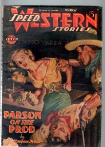SPEED WESTERN STORIES 1946 MAR-GREAT SPICY PULP G/VG