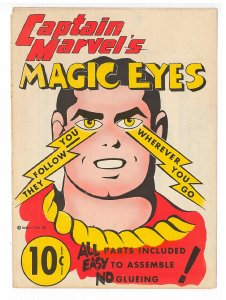 Captain Marvel's Magic Eyes paper toy, unused, excellent condition