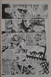 TIMOTHY TRUMAN / TIM BRADSTREET original art, HAWKWORLD #30, Pg #7, 11x17,Signed