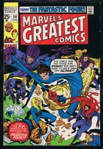 Marvel's Greatest Comics #28 ORIGINAL Vintage 1970 Fantastic Four