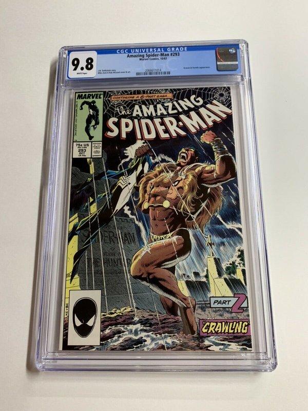 Amazing Spider-man 293 Cgc 9.8 White Pages Last Hunt 2066611014