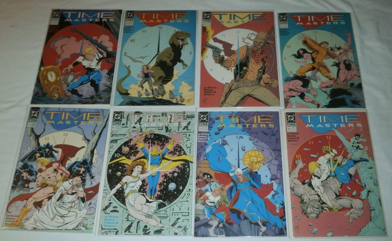 Time Masters #1-8 (complete set) Rip Hunter, Doctor Fate, JLI, Animal Man