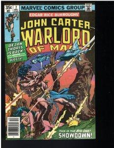 John Carter Warlord of Mars #7 (1977)