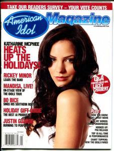 American Idol The Magazine Vol. 3 #1  2006-Katherine McPhee-Bo Bice-FN/VF
