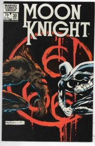 MOON KNIGHT #30 VF 1980 1983 Sienkiewicz Werewolf Marvel more MK in store