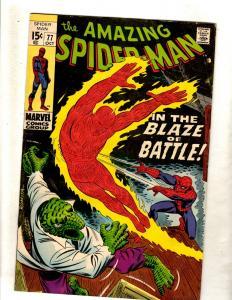 Amazing Spider-Man # 77 VF Marvel Comic Book Stan Lee Goblin Kraven Rhino FM2