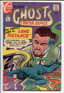 MANY GHOSTS OF DOCTOR GRAVES #9 1968-CHARLTON-STEVE DITKO ART-HORROR-vg
