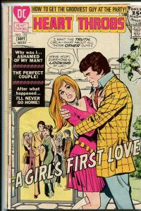 HEART THROBS #133 1971-DC ROMANCE-CHEATING! VG/FN