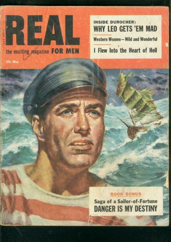 REAL MAGAZINE-MAY 1955-LEO DUROCHER-MARILYN-McCANN ART G