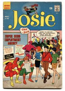 Josie #22 1968- Archie Comics- Superhero cover