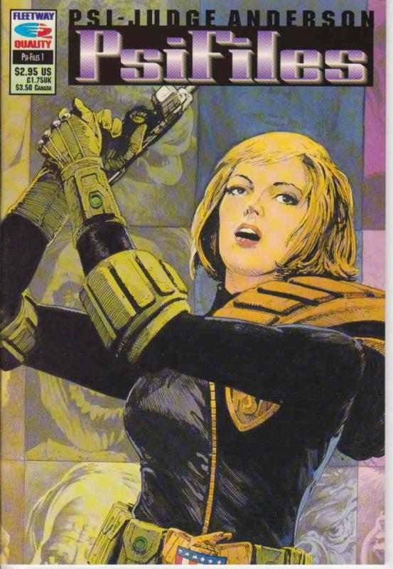 Psi-Judge Anderson: Psifiles #1 VF/NM; Fleetway Quality | save on shipping - det