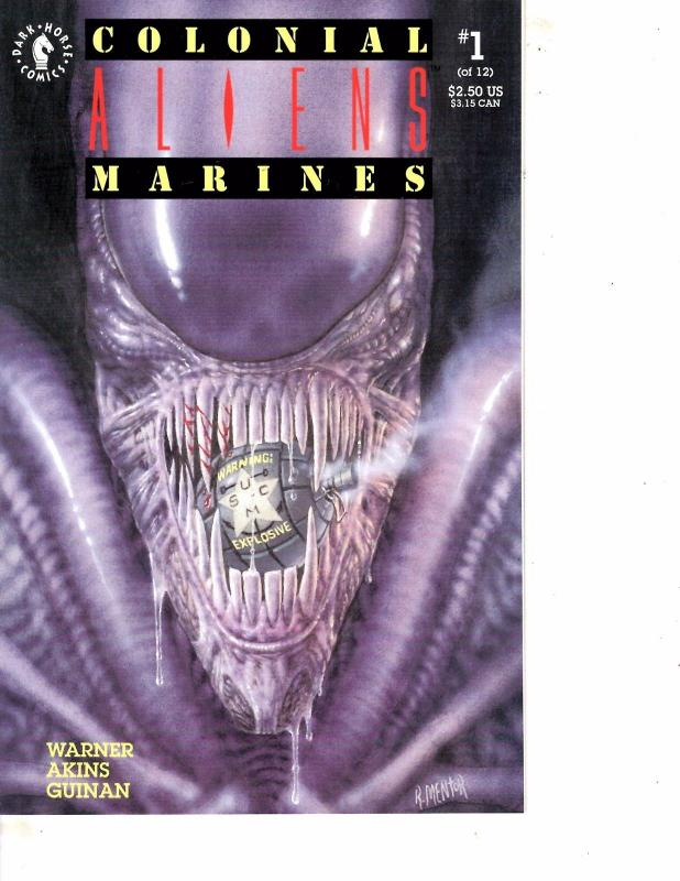 Lot Of 2 Comic Books Dark Horse Colonial Aliens Marines #1 and #4  MS9