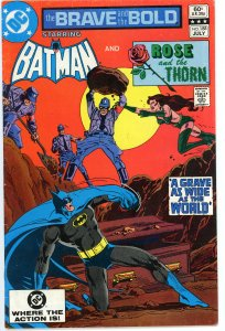Brave & The Bold 188/189 set  both VG/F   Batman & Rose & Thorn 2 part story