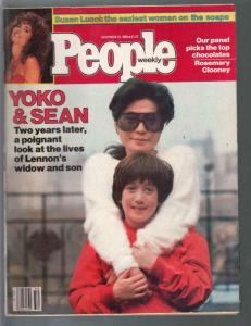 People Weekly 12/13/1982-Yoko & Sean Lennon-Susan Lucci-VG/FN