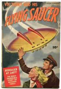 Vic Torry And His Flying Saucer 1950 POWELL Rare Fawcett one shot VG
