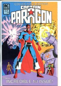 CAPTAIN PARAGON #1 1983-AC-SIGNED-KEN MITCHRONEY-vf