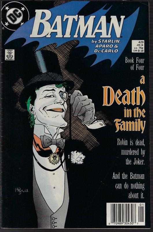 Batman #429 (DC, 1989) NM
