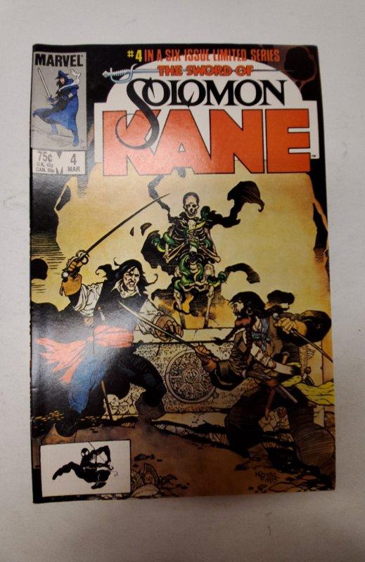 The Sword of Solomon Kane #4 (1986) NM Marvel Comic Book J667