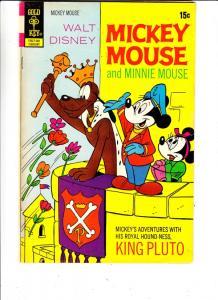 Mickey Mouse, Walt Disney's #134 (Feb-72) FN/VF Mid-High-Grade Mickey Mouse, ...