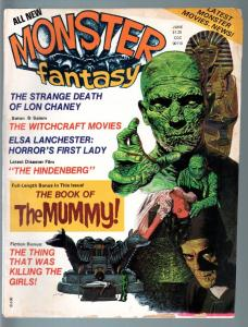 MONSTER FANTASY #2-1975-MUMMY BOOK-CHRISTOPHER LEE-RONDO HATTEN-WITCHCRAFT  VG