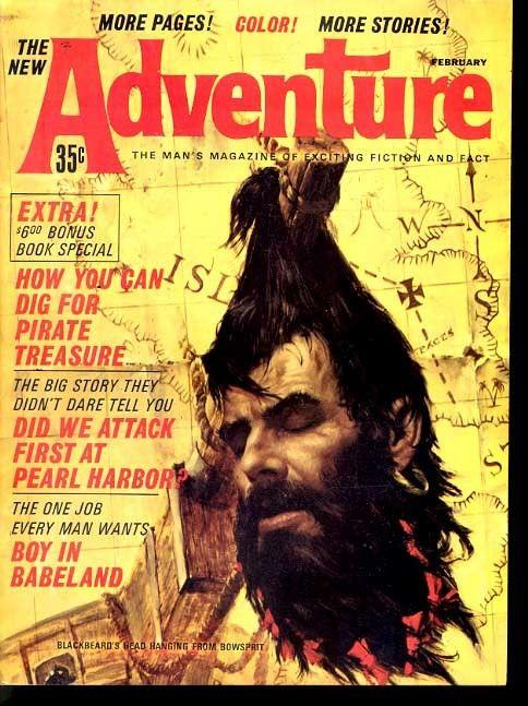 ADVENTURE 1964 FEB-DECAPITATION CVR/STORY FN