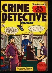 CRIME DETECTIVE COMICS #11-PRE-CODE VIOLENCE FN