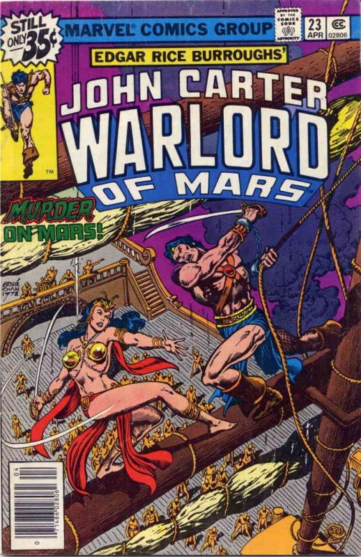 John Carter, Warlord of Mars #23 FN Marvel - save on shipping - details inside