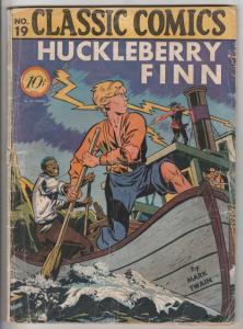 Classic Comics #19 (Mar-44) GD- Low-Grade Huckleberry Finn