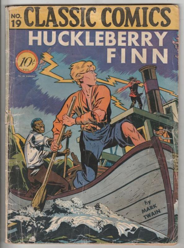 Classic Comics #19 (Mar-44) GD- Low-Grade Huckleberry Finn