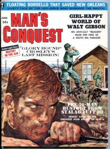 Man's Conquest Magazine June 1960-WALTER GIBSON-SHIRLEY PRICE- FN/VF