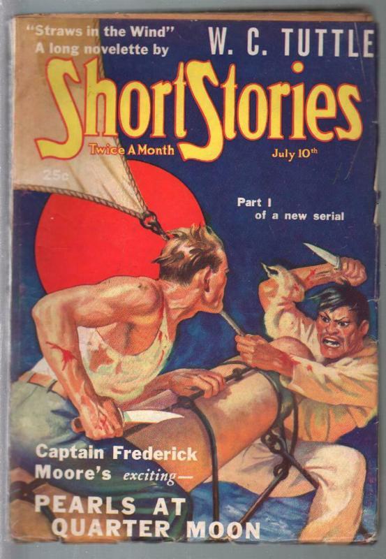 Short Stories 7/10/1938-Doubleday-William F Saare-WC Tuttle-pulp thrills-VG+